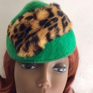 Vintage Leopard Fur Hat